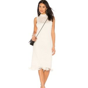 Callahan Stripe Sleeveless Mock-Neck Linen Dress